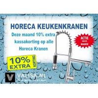 10% extra kassakorting op alle horeca spoel Kranen