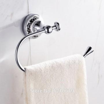 Handdoek houder ring chroom gepolijst