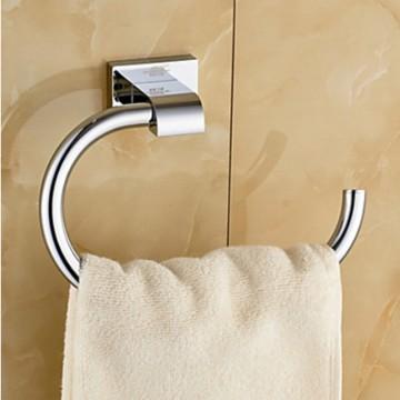 Chromen badkamer douche handdoek wandhaak