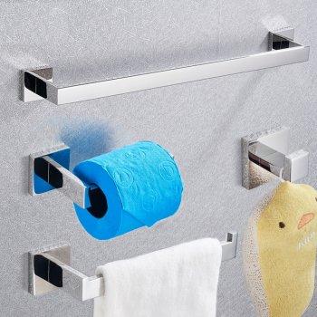 Badkamer accessoires set chroom