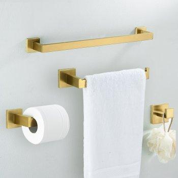 Badkamer accessoires set goud