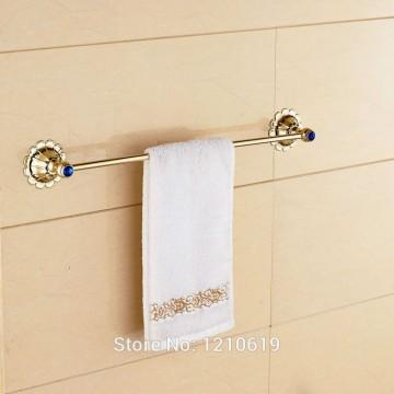 Luxe Handdoekenrek blauw kristal badhanddoek