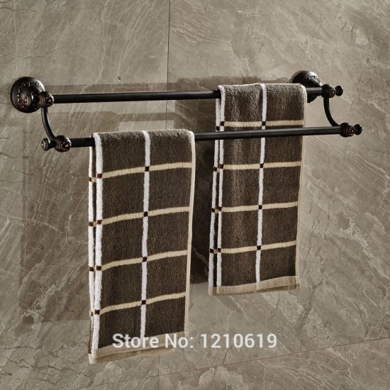Olie gewreven brons dubbele handdoek bars rails