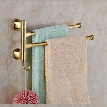 Wandhouder goud messing badkamer handdoekrek