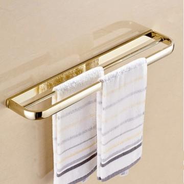 Gepolijst gouden massief messing handdoek bar