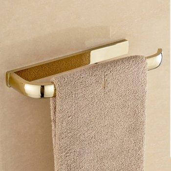 Gouden massief messing badkamer handdoek bar