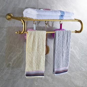 Massief messing gouden handdoek Rack