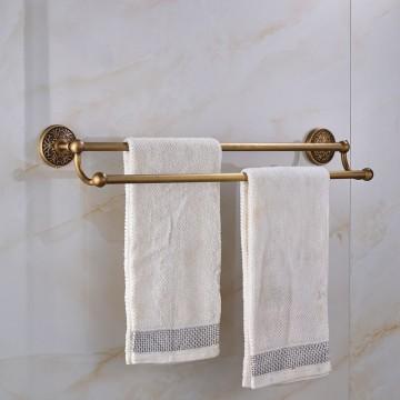 Massief messing dubbele handdoek bars