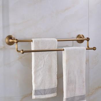 Dubbele handdoek bars massief messing