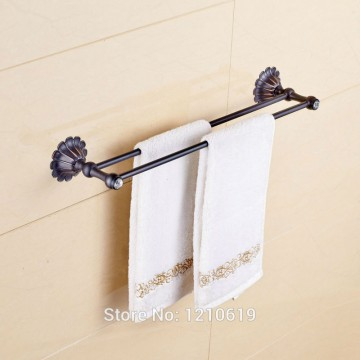 Olie gewreven brons badkamer dubbele handdoek Bars