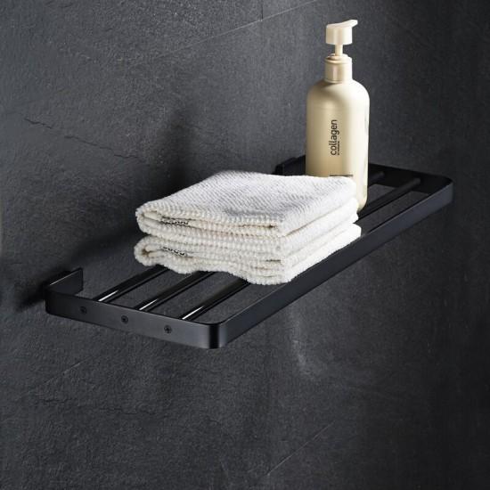 Zwarte handdoeken rek olie gewreven brons