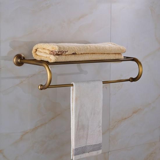 Antiek messing badkamer handdoek