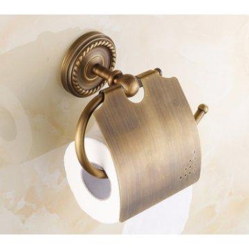 Antiek massief messing badkamer toiletrol houder
