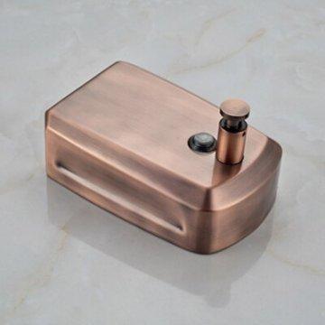 Zeep dispenser antiek koper 800ML muurbevestiging