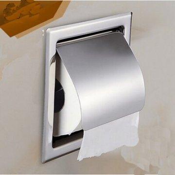 Wandmontage RVS gepolijst chroom toiletrol houder enkel