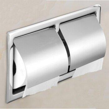 Dubbele Wandmontage RVS gepolijst chroom toiletrol houder