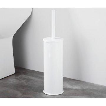 Witte Luxe Vrijstaande Toiletborstel houder Vloerstandaard Rond