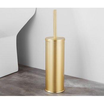 Luxe Vrijstaande Gouden Toiletborstel houder Vloerstandaard Rond