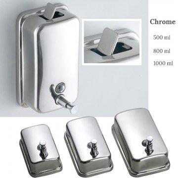 Zeep dispenser muur 500 ML chroom Rvs