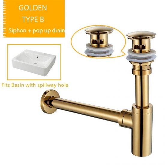 Gouden Afvoer set Pop Afvoer wand sifon