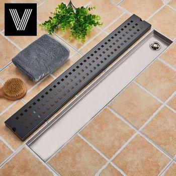 Afvoerputje Zwart 90*10cm 304 RVS