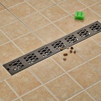 Zwarte Afwerking Badkamer Douche Afvoerputje  70*10 cm