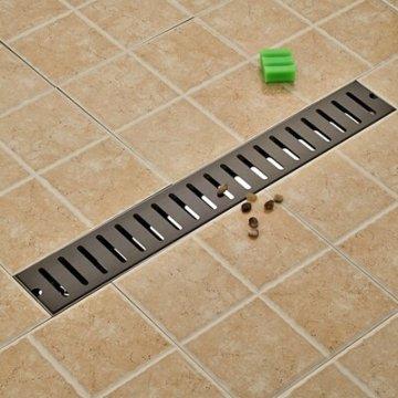 Ti-Zwarte Afwerking Badkamer Douche Afvoerputje  70*10 cm