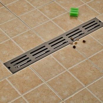 Ti-Zwarte Afwerking Badkamer Douche 70*10 cm Afvoerput
