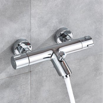 Moderne Thermostaat Douche Bad mengkraan Chrome