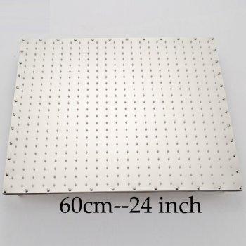 Luxe ultradunne vierkante regendouche 60 cm roestvrijstalen chroom