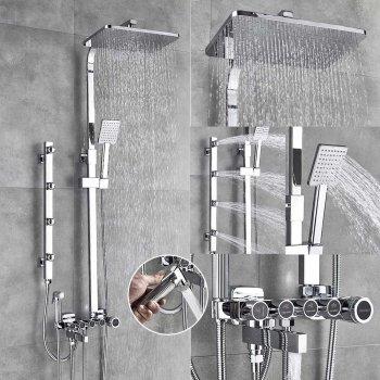 Luxe messing doucheset chroom mengkraan bidet sproeier massage jets