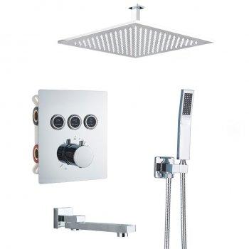 Luxe thermostatische inbouw douche kraan plafond regendouche set