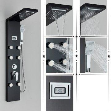 Regendouche paneel mengkraan met handdouche massage systeem en temp display
