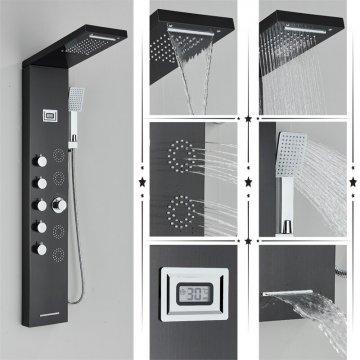 Regendouche paneel meng kraan met handdouche massage systeem en display