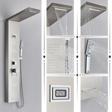 Regendouche paneel meng kraan met handdouche massage systeem en temperatuur display