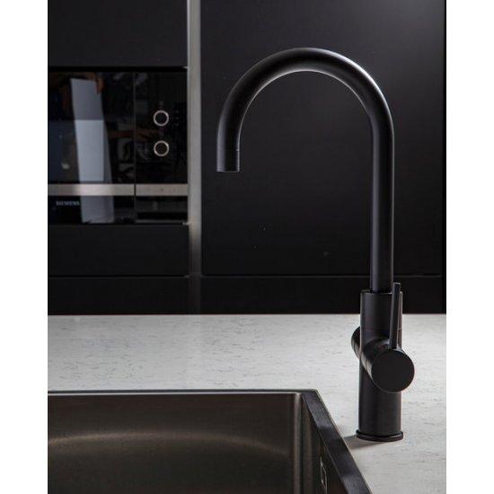 ACE Boil 3 in 1 kokend water kraan - keukenkraan + boiler - Rond - Mat Zwart