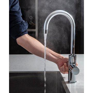 ACE Boil 3 in 1 kokend water kraan - keukenkraan + boiler - Rond - Chroom