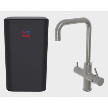 ACE Boil 3 in 1 kokend water kraan - keukenkraan + boiler - Haaks  - RVS