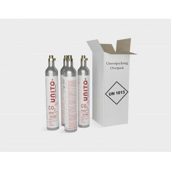 Unito CO2 cilinder 4pack (3+1 gratis)