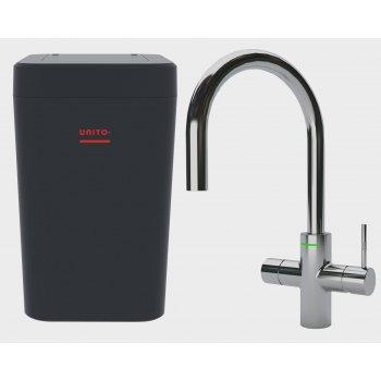 LAVA 3 in 1 kokend water kraan - keukenkraan + boiler - Cosmos Rond Chroom