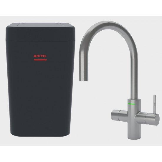 LAVA 3 in 1 kokend water kraan - keukenkraan + boiler - Cosmos Rond RVS