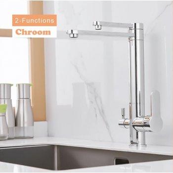 Chroom Waterfilter Drinkwater Uitloop Keuken Kraan Filterkraan