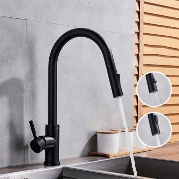 Moderne Kraan Luxe Messing zwart KeukenKraan