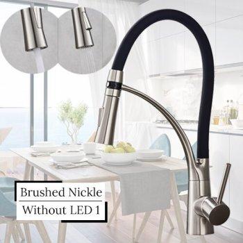 Keukenkraan nikkel zwart 2 standen