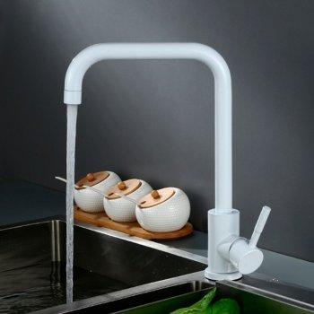 Basic witte keuken mengkraan wit hoek