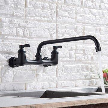 Wand keukenkraan Lange draaibare uitloop wastafel mengkraan