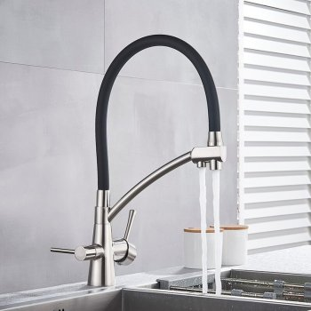 Nikkel Meng Kraan Met Filter aansluiting Waterzuivering Functie Kranen