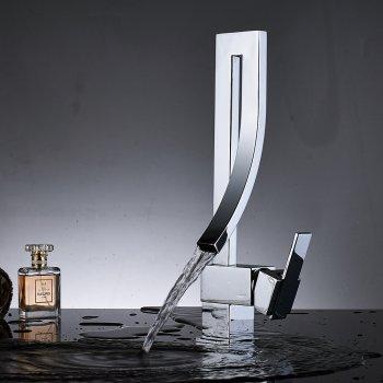 Mode stijl waterval wastafel mengkraan chroom