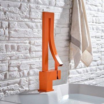 Mode stijl oranje waterval wastafel mengkraan