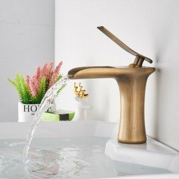 Luxe wastafelkraan waterval enkele handgreep